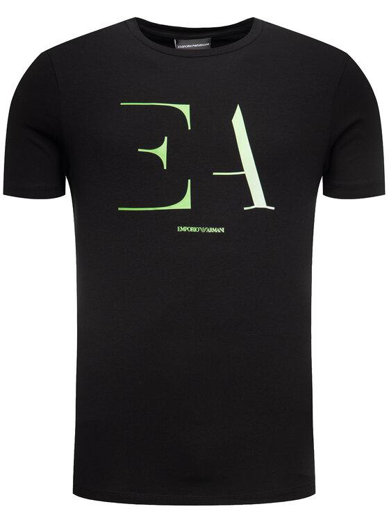 Emporio Armani Emporio Armani T-Shirt 3H1TA5 1J0AZ 0999 Czarny Regular Fit