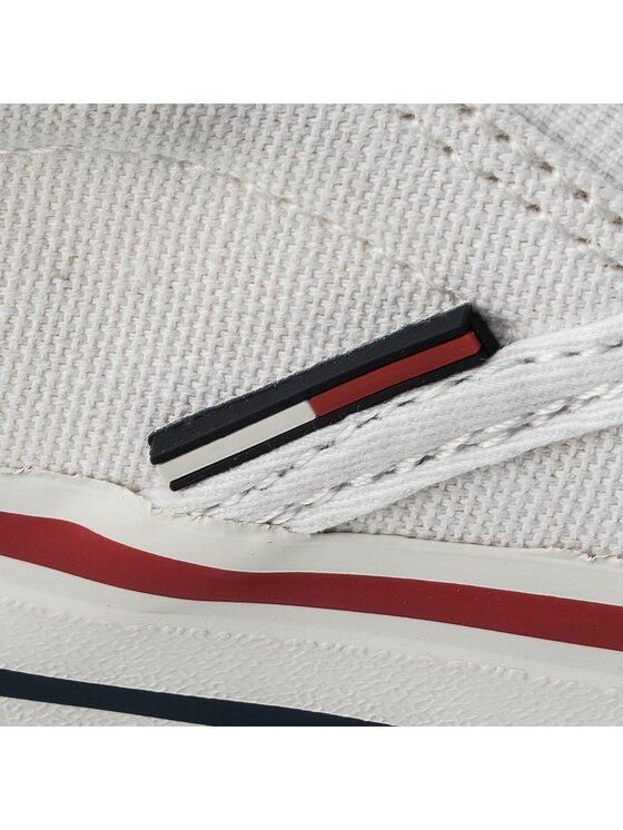 Tommy Jeans Tommy Jeans Scarpe sportive Textile Slip On EM0EM00002 Bianco