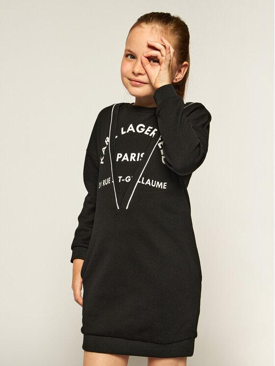 KARL LAGERFELD KARL LAGERFELD Sukienka codzienna Z12156 S Czarny Regular Fit