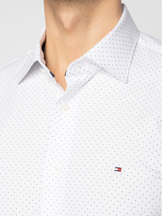 Tommy Hilfiger Tailored Tommy Hilfiger Tailored Ing Poplin Dot Classic TT0TT06463 Fehér Regular Fit