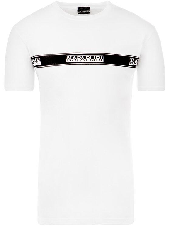 Napapijri Napapijri T-Shirt Sagar N0YHUD Weiß Regular Fit