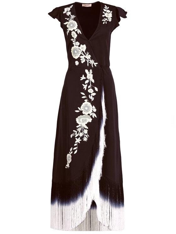 TWINSET TWINSET Φόρεμα βραδινό 191TT2135 Μαύρο Regular Fit