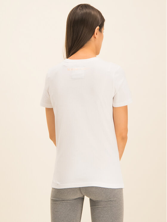 Superdry Superdry Marškinėliai Premium Goods Luxe Emb Entry Tee W1000067A Balta Classic Fit