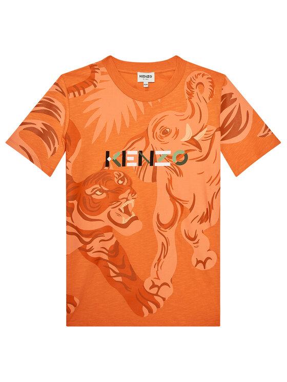 Kenzo Kids Marškinėliai K25118 S Oranžinė Regular Fit