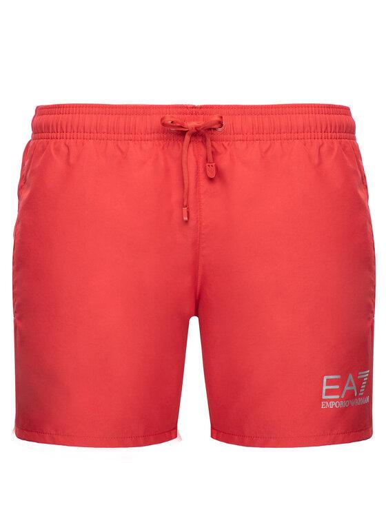 EA7 Emporio Armani EA7 Emporio Armani Plavecké šortky 902000 CC721 17574 Červená Regular Fit