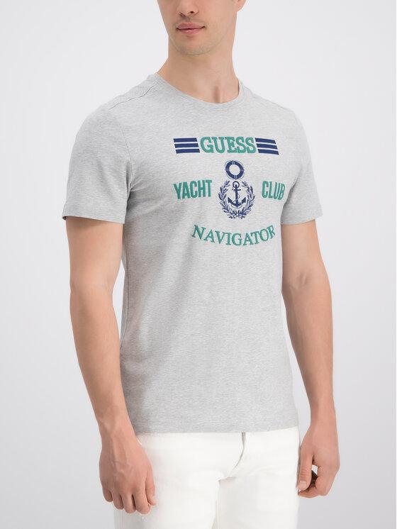 Guess Guess T-shirt M92I33 J1300 Gris Super Slim Fit