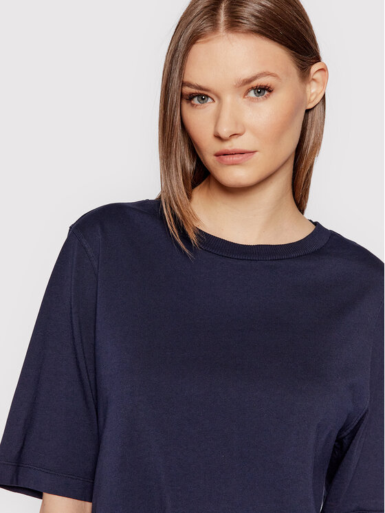 United Colors Of Benetton United Colors Of Benetton Тишърт 3BL0E17G5 Тъмносин Boxy Fit