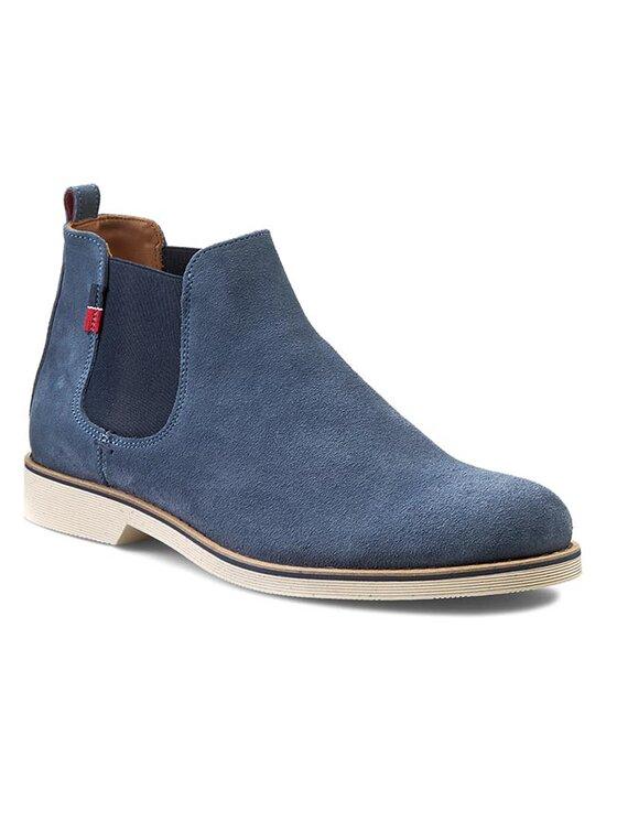 Tommy Hilfiger Tommy Hilfiger Členková obuv s elastickým prvkom Dunn 3B FM56818817 Modrá