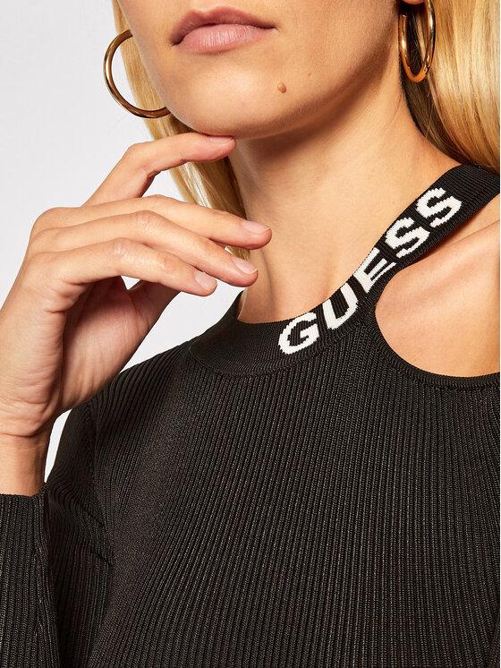 Guess Guess Úpletové šaty Carol W0BK1H Z2G50 Černá Slim Fit