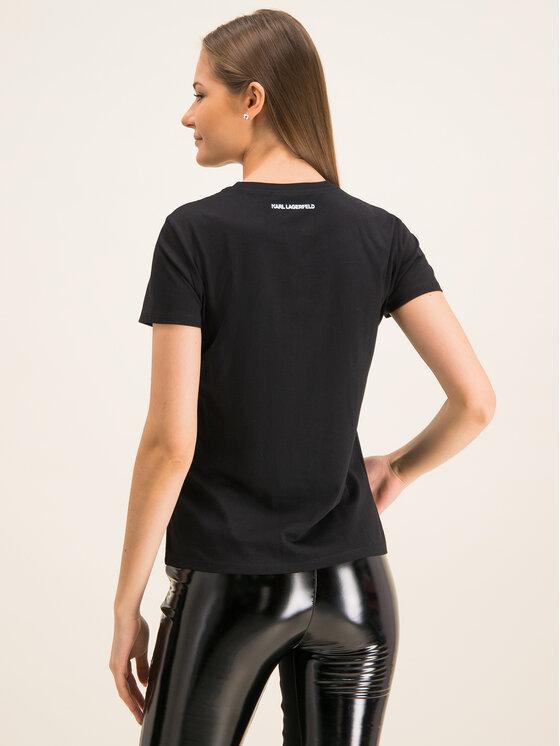 KARL LAGERFELD KARL LAGERFELD T-Shirt Double Logo 96KW1709 Μαύρο Regular Fit