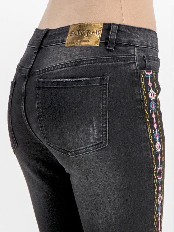 Desigual Desigual Дънки тип Slim Fit 19SWDD35 Черен Slim Fit