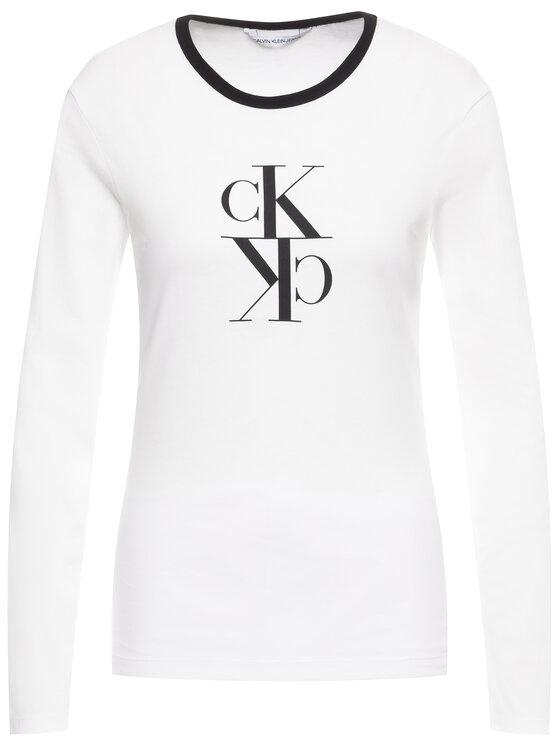 Calvin Klein Jeans Calvin Klein Jeans Bluzka J20J213067 Biały Regular Fit