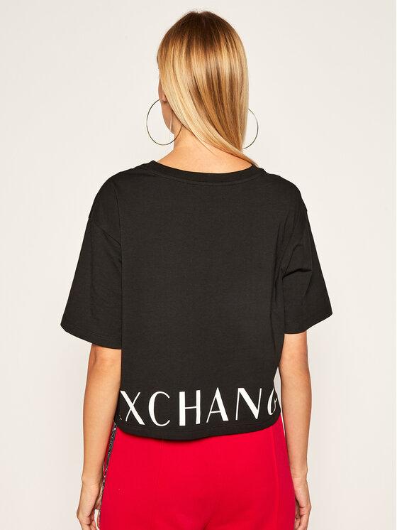 Armani Exchange Armani Exchange T-Shirt 6HYTFS YJX5Z 1200 Černá Regular Fit