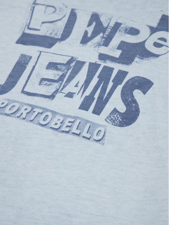 Pepe Jeans Pepe Jeans Marškinėliai Taylor PB502716 Mėlyna Regular Fit