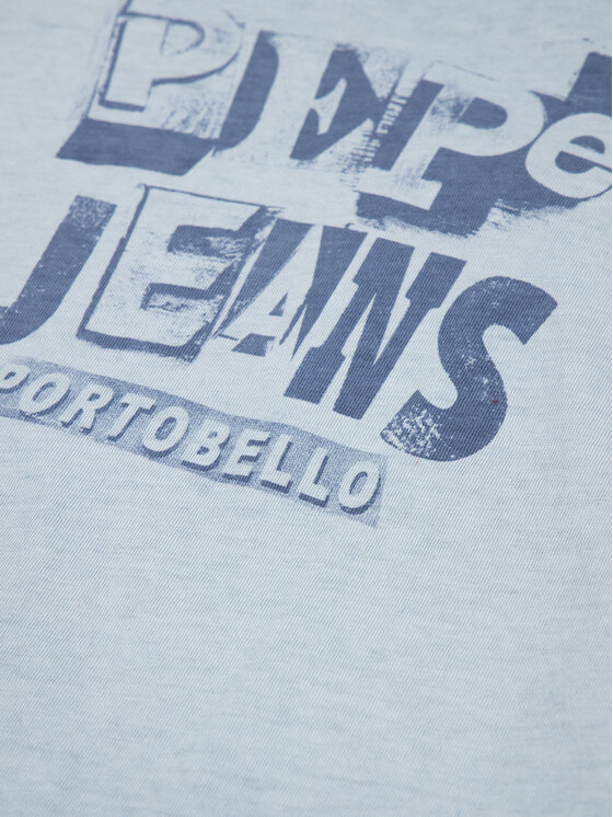 Pepe Jeans Pepe Jeans T-Shirt Taylor PB502716 Modrá Regular Fit