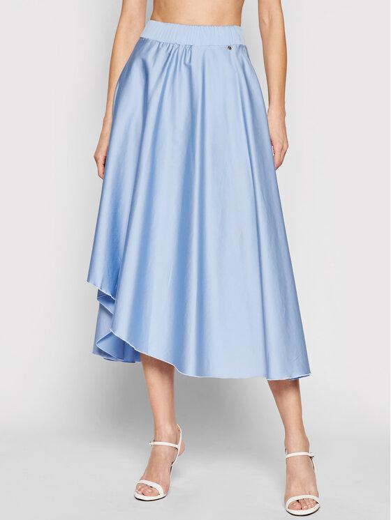 Nissa Midi sijonas F12134 Mėlyna Regural Fit