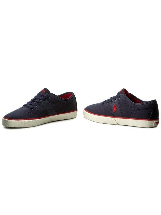 Polo Ralph Lauren Polo Ralph Lauren Sneakers aus Stoff Halford A85 XZ9ZZ XY4YR XW4R7 Dunkelblau
