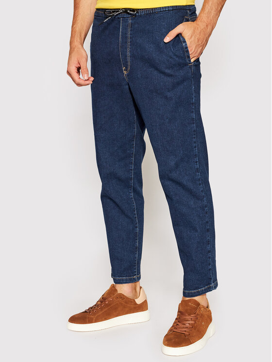 United Colors Of Benetton Džinsai 429R55IX8 Tamsiai mėlyna Relaxed Fit