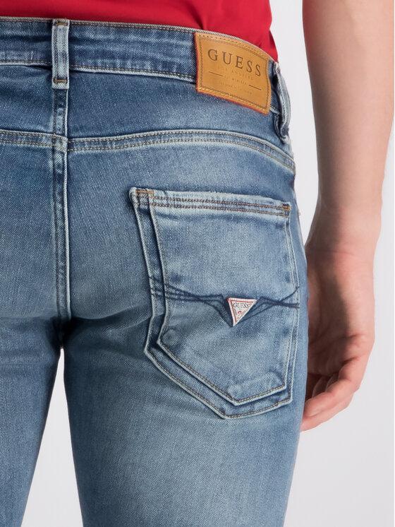 Guess Guess Skinny Fit džíny M93AN1 D3I31 Tmavomodrá Skinny Fit