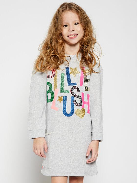 Billieblush Kasdieninė suknelė U12580 Pilka Regular Fit