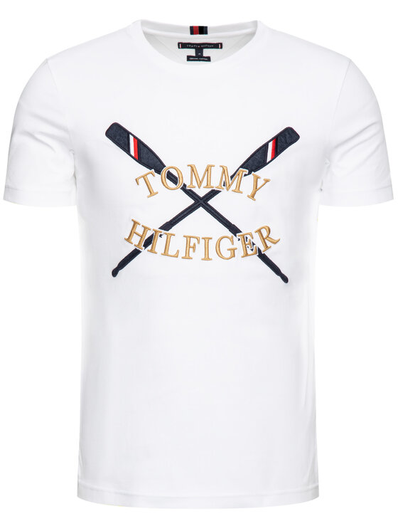 Tommy Hilfiger Tommy Hilfiger Póló MW0MW10819 Fehér Regular Fit
