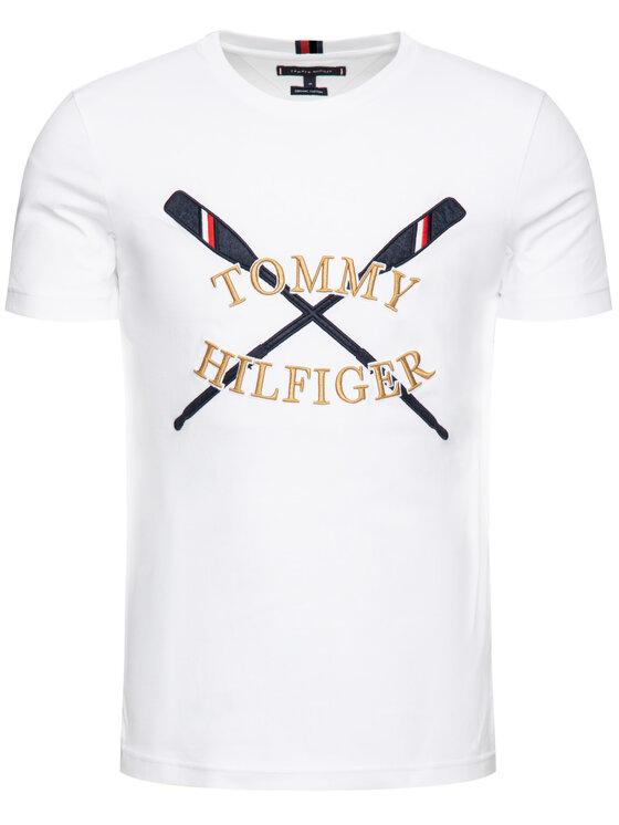 Tommy Hilfiger Tommy Hilfiger Tričko MW0MW10819 Biela Regular Fit