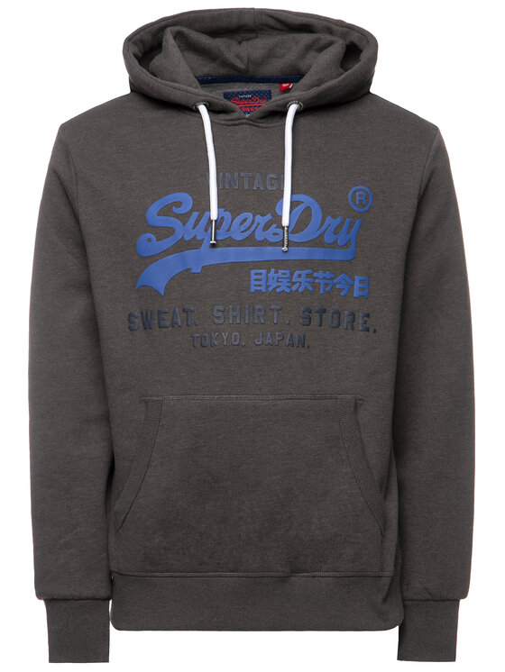 Superdry Superdry Bluza Shop Duo M20004NS Szary Regular Fit