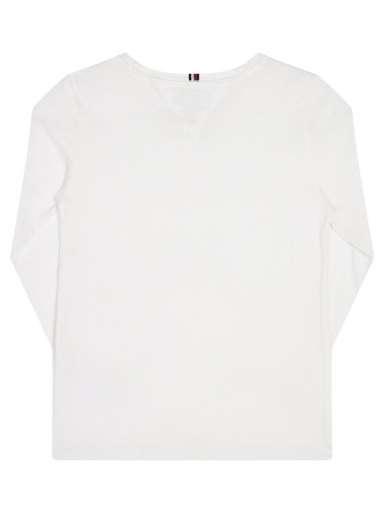 Tommy Hilfiger Tommy Hilfiger Блуза Girls Basic Cn Knit KG0KG03706 S Бял Long Sleeve