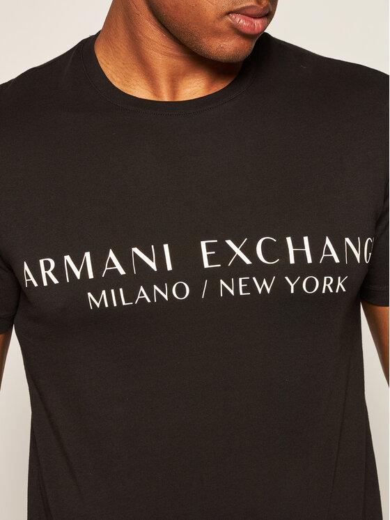Armani Exchange Armani Exchange T-Shirt 8NZT72 Z8H4Z 1200 Černá Slim Fit