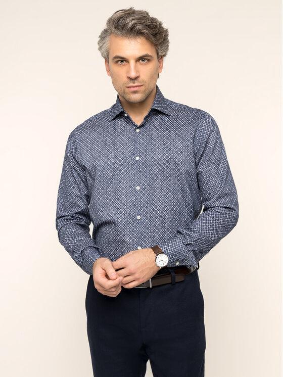 Emanuel Berg Marškiniai Mcr-Mr. Crown PEB45554 Tamsiai mėlyna Modern Fit