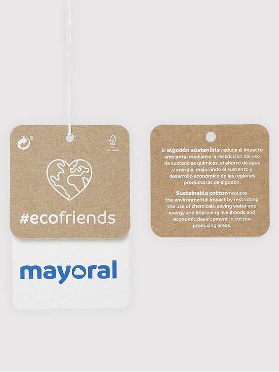 Mayoral Mayoral Bluzka 7095 Biały Regular Fit
