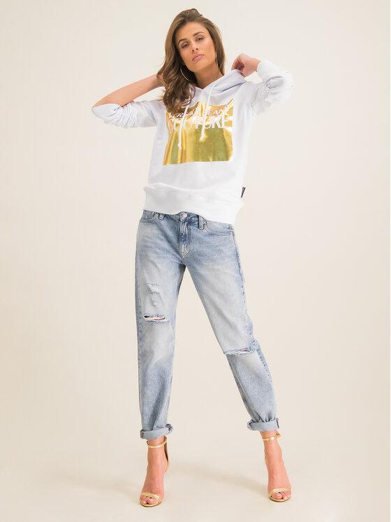 Versace Jeans Couture Versace Jeans Couture Суитшърт B6HVA71T Бял Regular Fit