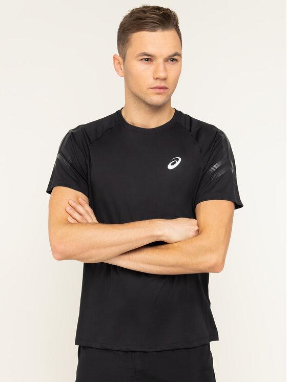 Asics T-Shirt Silver Icon Top 2011A467 Czarny Regular Fit