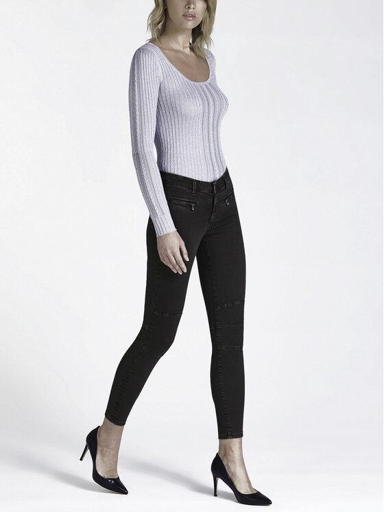 Guess Guess Spodnie skórzane W94B72 WBG60 Czarny Slim Fit