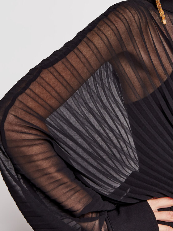 Patrizia Pepe Patrizia Pepe Sukienka wieczorowa 2A2213/A9D5-K103 Czarny Regular Fit