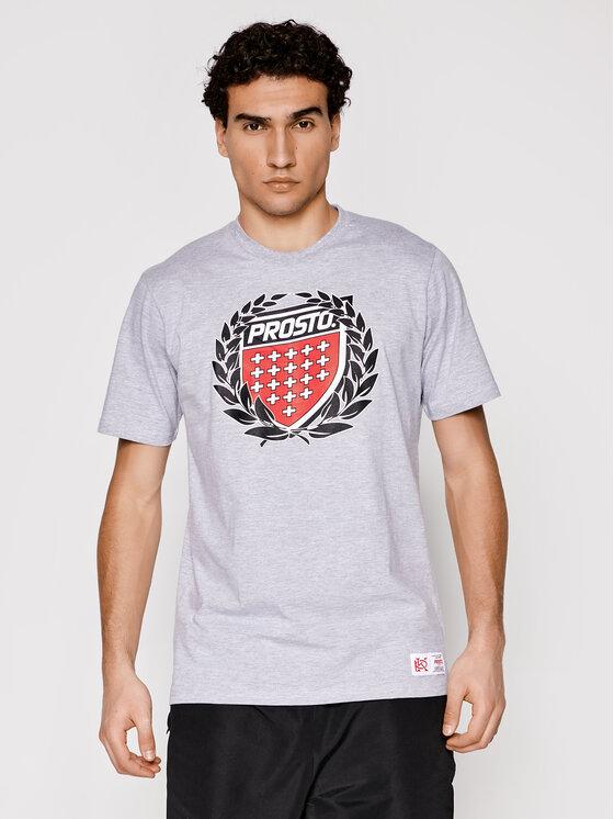 PROSTO. Marškinėliai KLASYK Cesar 1032 Pilka Regular Fit