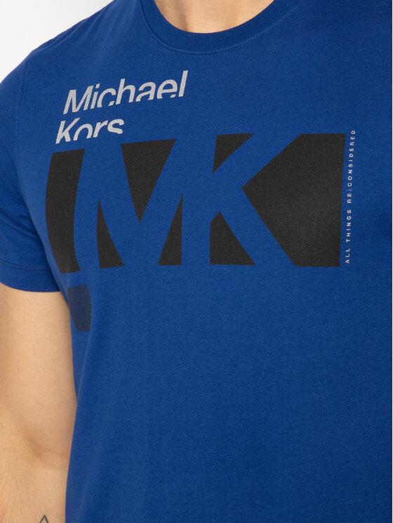 MICHAEL Michael Kors MICHAEL Michael Kors Marškinėliai Crew Neck Logo CR95J4BFV4 Tamsiai mėlyna Regular Fit