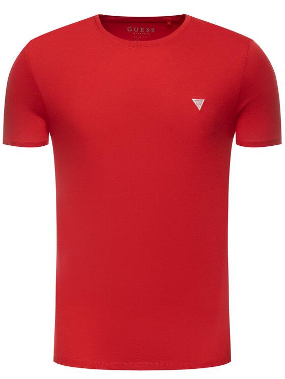 Guess Guess Tricou M93I60 I3Z00 Roșu Slim Fit
