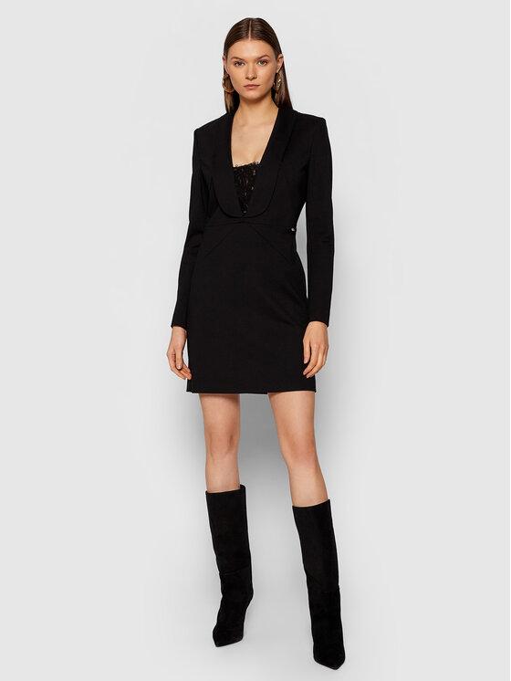 Liu Jo Liu Jo Koktel haljina CF1091 J1857 Crna Regular Fit