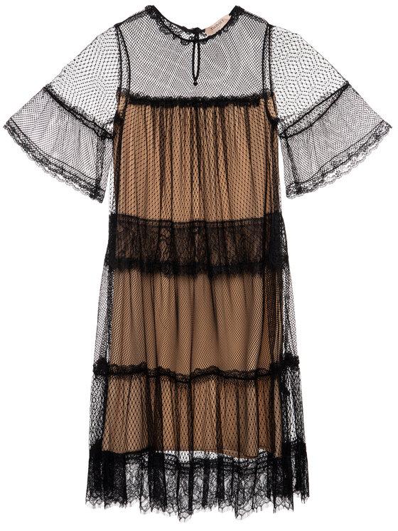 TwinSet TwinSet Φόρεμα κοκτέιλ 192TP2331 Μαύρο Regular Fit