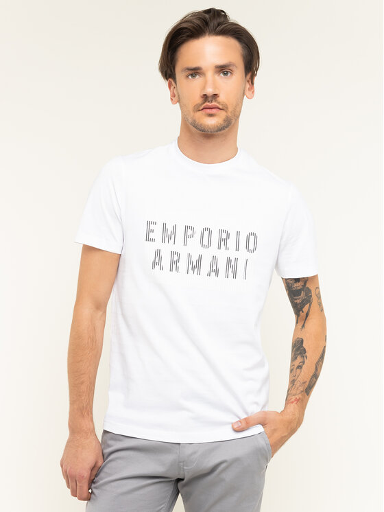 Emporio Armani Emporio Armani T-Shirt 3H1TB7 1J30Z 0102 Biały Regular Fit