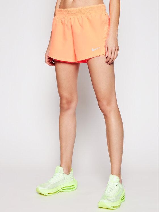Nike Nike Szorty sportowe 2-In-1 Running CK1004 Pomarańczowy Standard Fit