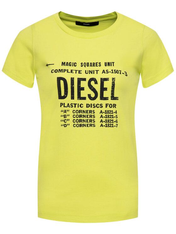 Diesel Diesel Póló T-Sily-ZF 00SYVT Sárga Regular Fit