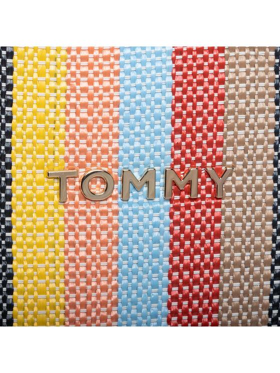 TOMMY HILFIGER TOMMY HILFIGER Kabelka Tommy Beach Bag Raffia AW0AW07982 Tmavomodrá