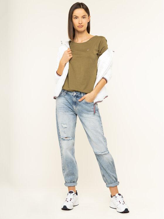 Tommy Jeans Tommy Jeans T-Shirt Soft DW0DW06901 Grün Regular Fit