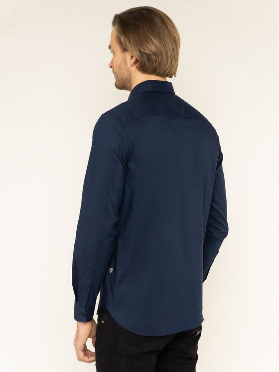 Guess Guess Camicia M01H25 W7ZK0 Blu scuro Regular Fit
