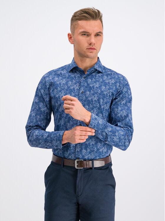 Digel Marškiniai 1297025 Tamsiai mėlyna Slim Fit