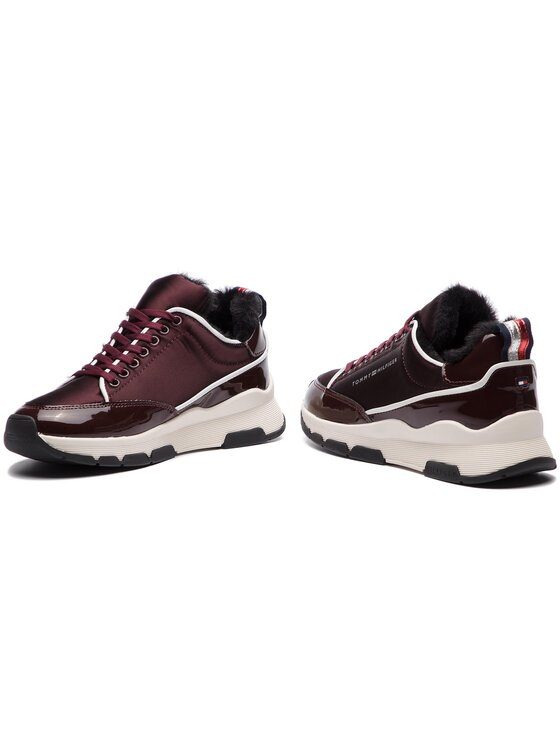 Tommy Hilfiger Tommy Hilfiger Sneakers Cool Technical Satin Sneaker FW0FW03970 Dunkelrot