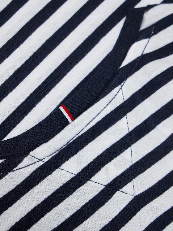 Tommy Hilfiger Tommy Hilfiger T-Shirt Essential Stripe KG0KG05766 M Granatowy Regular Fit