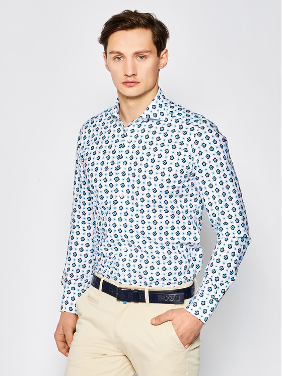 Emanuel Berg Marškiniai Harvard HV37 Spalvota Slim Fit